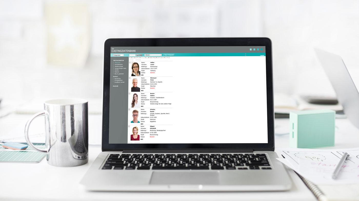 Arbeiten Sie effektiv und überall mit der Castingdatenbank von datenbanken24.