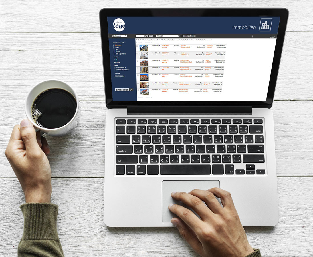 Viele Layoutmöglichkeiten mit dem Application Builder von daetnbanken24