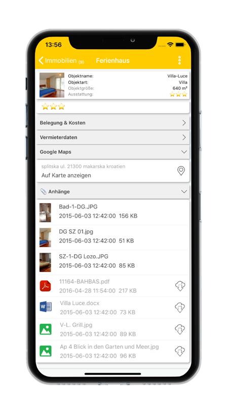 Datensatz - datenbanken24 Mobile App