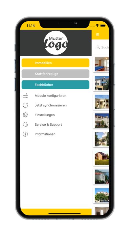 Menü - datenbanken24 Mobile App